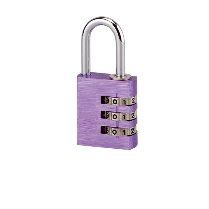 Aluminium Square Shape Combination Padlock